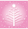Christmas tree pink vector image vector image