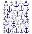 silhouettes of anchors vector image vector image