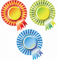 SET OF best choice label with ribbons vector image vector image