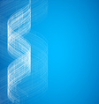 Blue abstract technology vector image