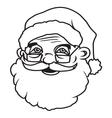 Santa head2 resize vector image