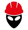 Alien Worker Flat Icon vector image