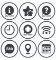 Help point icons Question information symbol vector image
