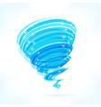 Blue tornado vector image