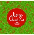 Christmas ball greeting card template vector image