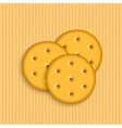 crackers on striped background vector image