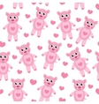 Cute cartoon pig puppy seamless texture Children vector image
