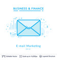 email marketing symbol on white vector image