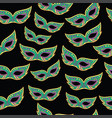 mardi gras masks seamless pattern cartoon doodle vector image