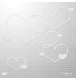 Modern thin hearts outlines with shadows vector image