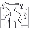 precipice breakage line icon sign vector image