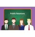 public relations concept with vector image