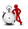 Time management background vector image