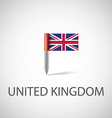 uk flag pin vector image