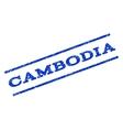 Cambodia Watermark Stamp vector image