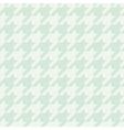 Tile mint green houndstooth pattern vector image