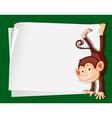 Cartoon Paper Space Monkey vector image vector image