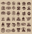 big set of fishing icons carp fishing trout vector image