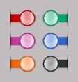 Color tabs vector image
