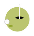 golf game circle emblem sport graphic vector image