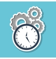 Graphic design of time vector image