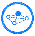 molecule rounded grainy icon vector image