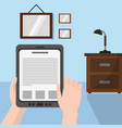reading with tablet design vector image