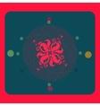 Sacred geometry flower love vector image