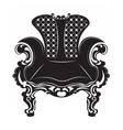 Vintage Baroque armchair vector image