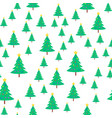 christmas tree with ball and star seamless pattern vector image