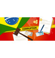 brazil corruption money bribery financial law vector image