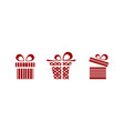 pink and red gifts icon set on white background vector image