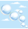 bubbles in the sky vector image vector image