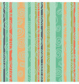 multicolored striped background with spirals green vector image