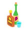 alcohol icon cartoon isometric 3d style vector image