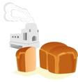 Bread and Russian stove vector image