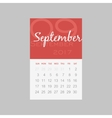 Calendar 2017 months September Week starts Sunday vector image