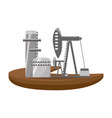isolated fuel factory vector image