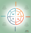 Lines 4 positions vector image