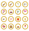 party icon circle vector image