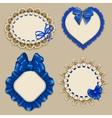 Set of elegant templates frame design vector image