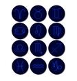 Zodiacs signs Stars icons set vector image