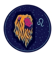 Zodiac sign Leo on night starry sky background vector image vector image