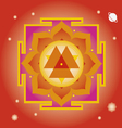 spring yantra for wellbeing vector image vector image