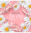 spring background with daisy flower vector image