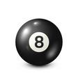 billiardblack pool ball with number 8snooker vector image