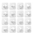 Set arrows icons white app buttons web design vector image vector image