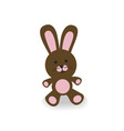 brown and pink bunny vector image