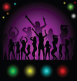 party in disco with girl silhouette vector image