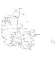 Denmark Black White Map vector image vector image